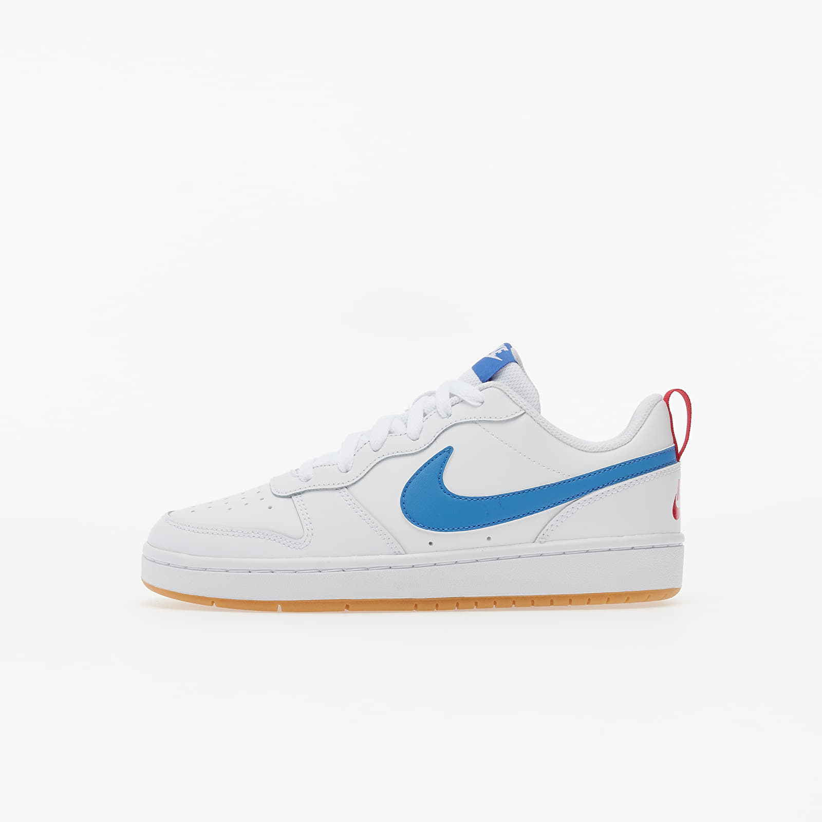 Kid´s shoes Nike Court Borough Low 2 (GS) White/ Pacific Blue-University Red