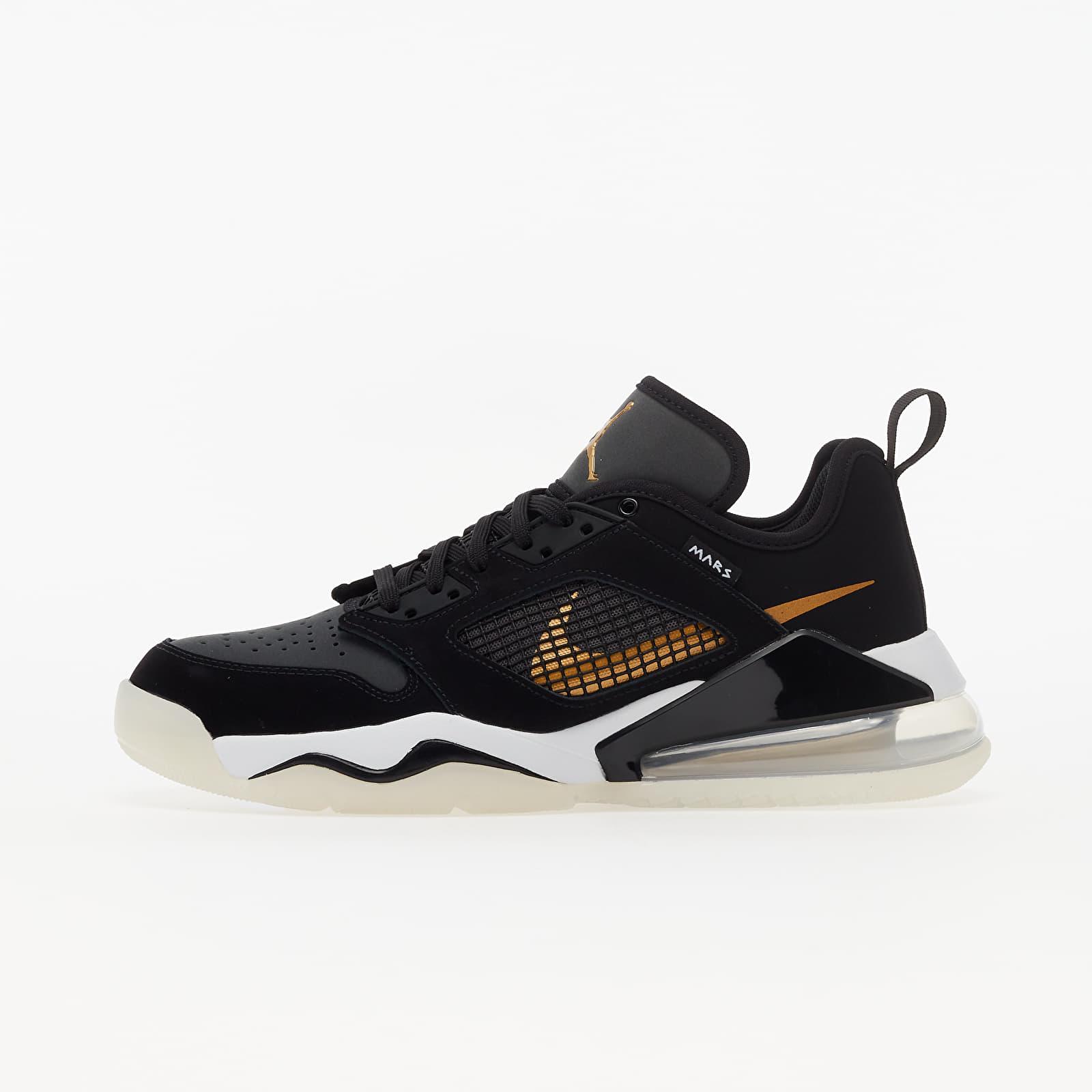 Pánské tenisky a boty Jordan Mars 270 Low Black/ Metallic Gold-Dk Smoke Grey-White