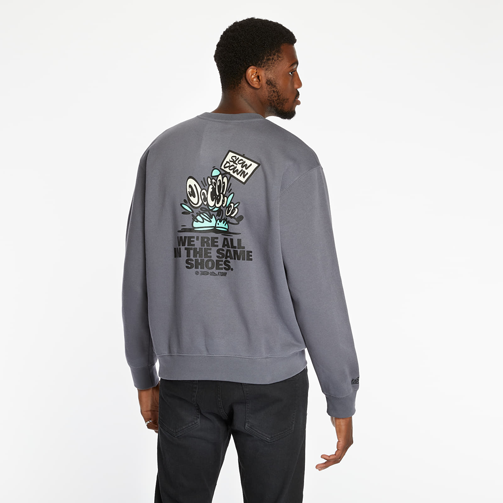 Sweatshirts Footshop Hungarian Artist Glow in the Dark Crewneck Solid Grey