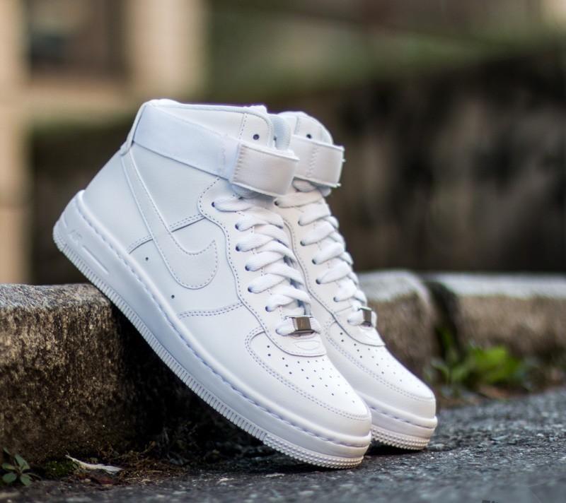 W Nike AF1 Ultra Force Mid ESS White White Wolf Grey | Footshop