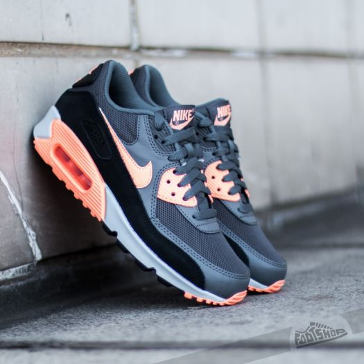 Nike Wmns Air Max 90 Essential Dark Grey Sunset Glow Black Platinum | Footshop