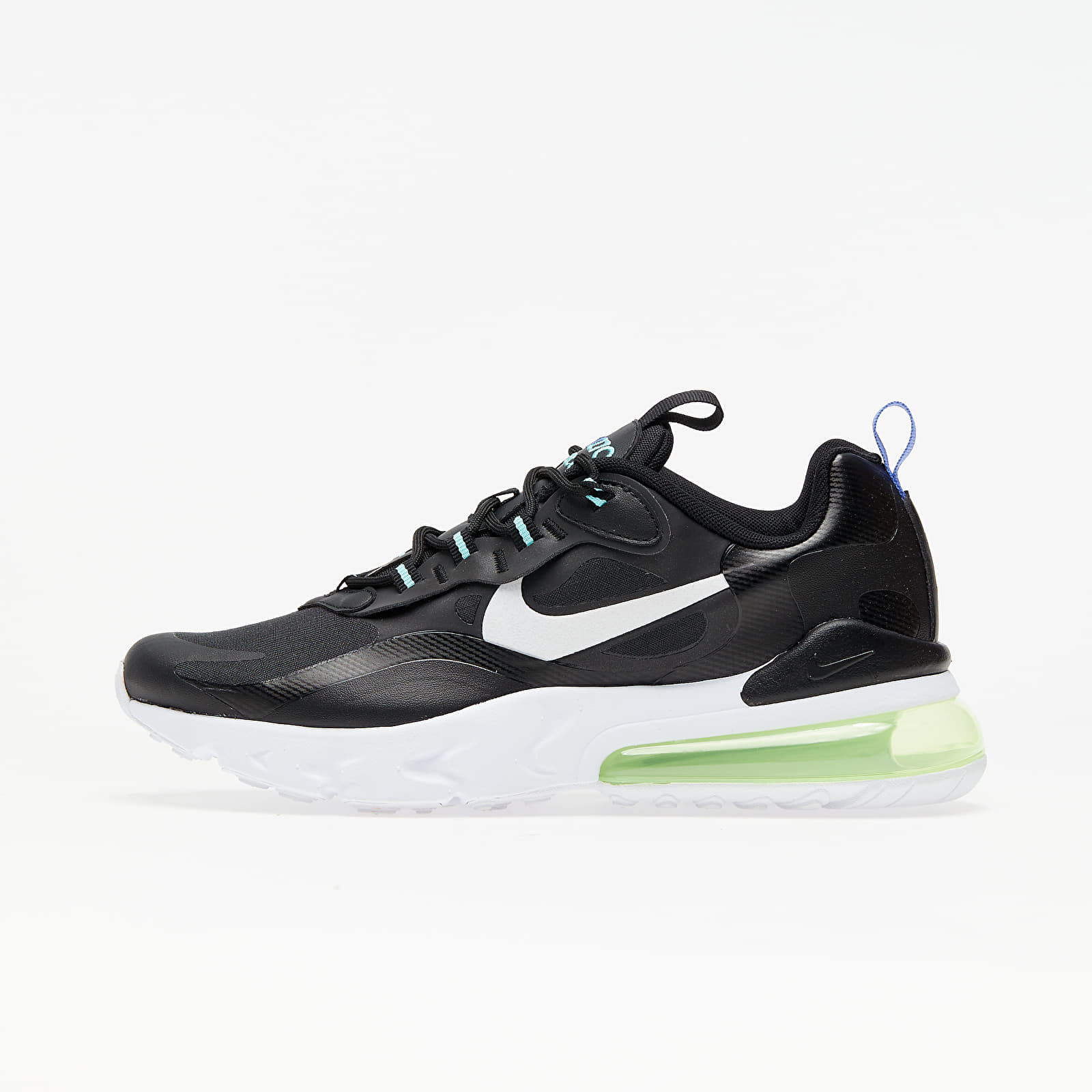 Nike Air Max 270 React GS Black/ White-Laser Orange-Aurora Green EUR 38