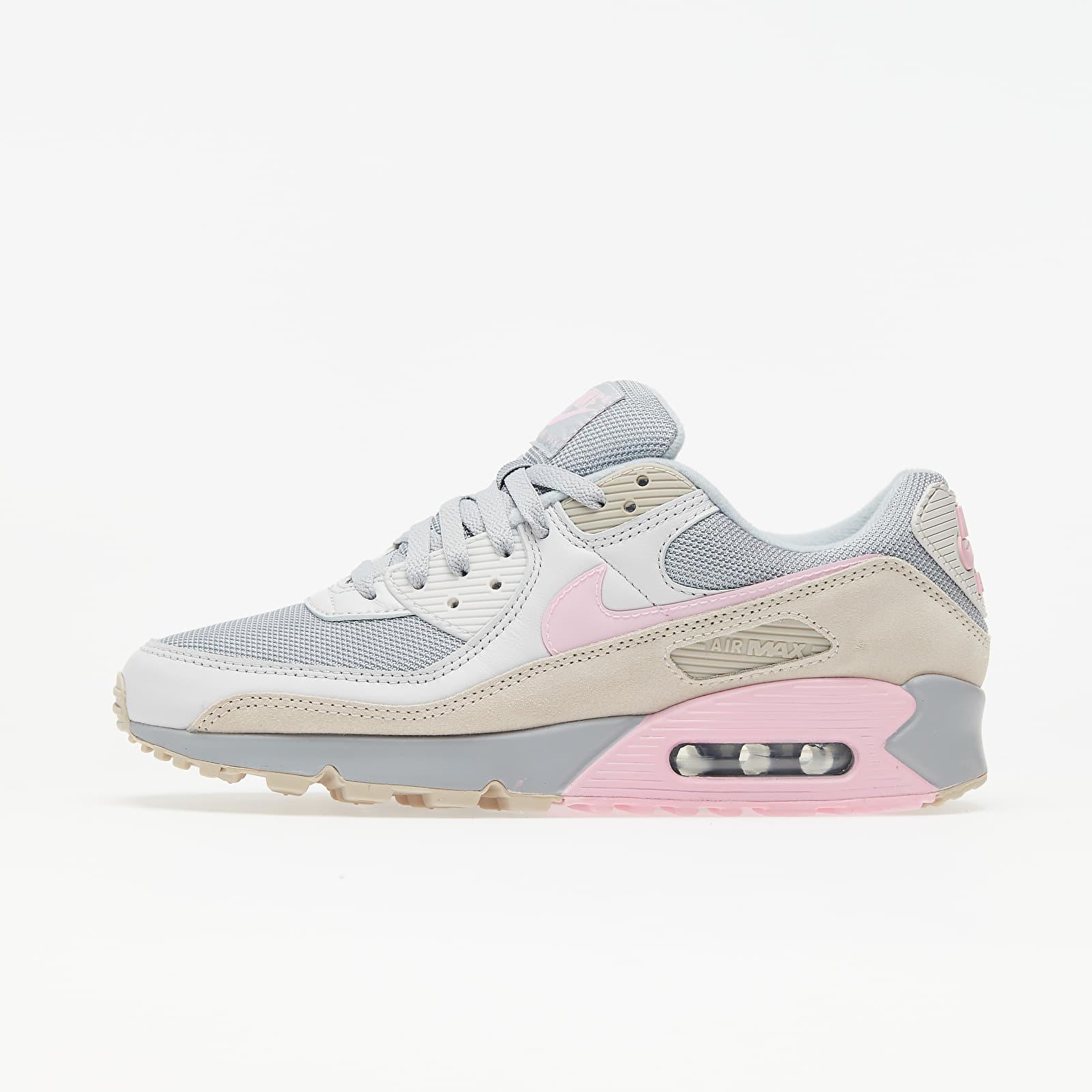Men's shoes Nike Air Max 90 Vast Grey/ Pink-Wolf Grey-String