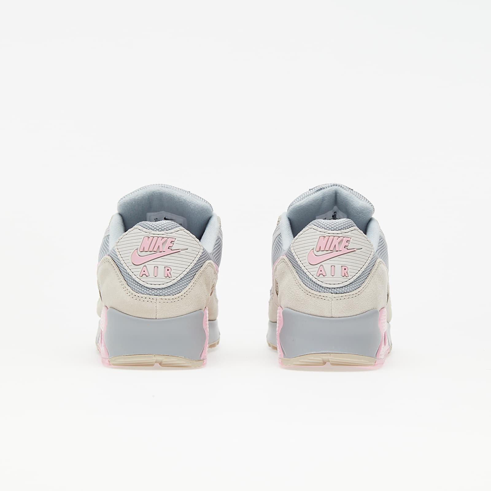 Nike Air Max 90 Vast Grey/ Pink-Wolf Grey-String, Gray