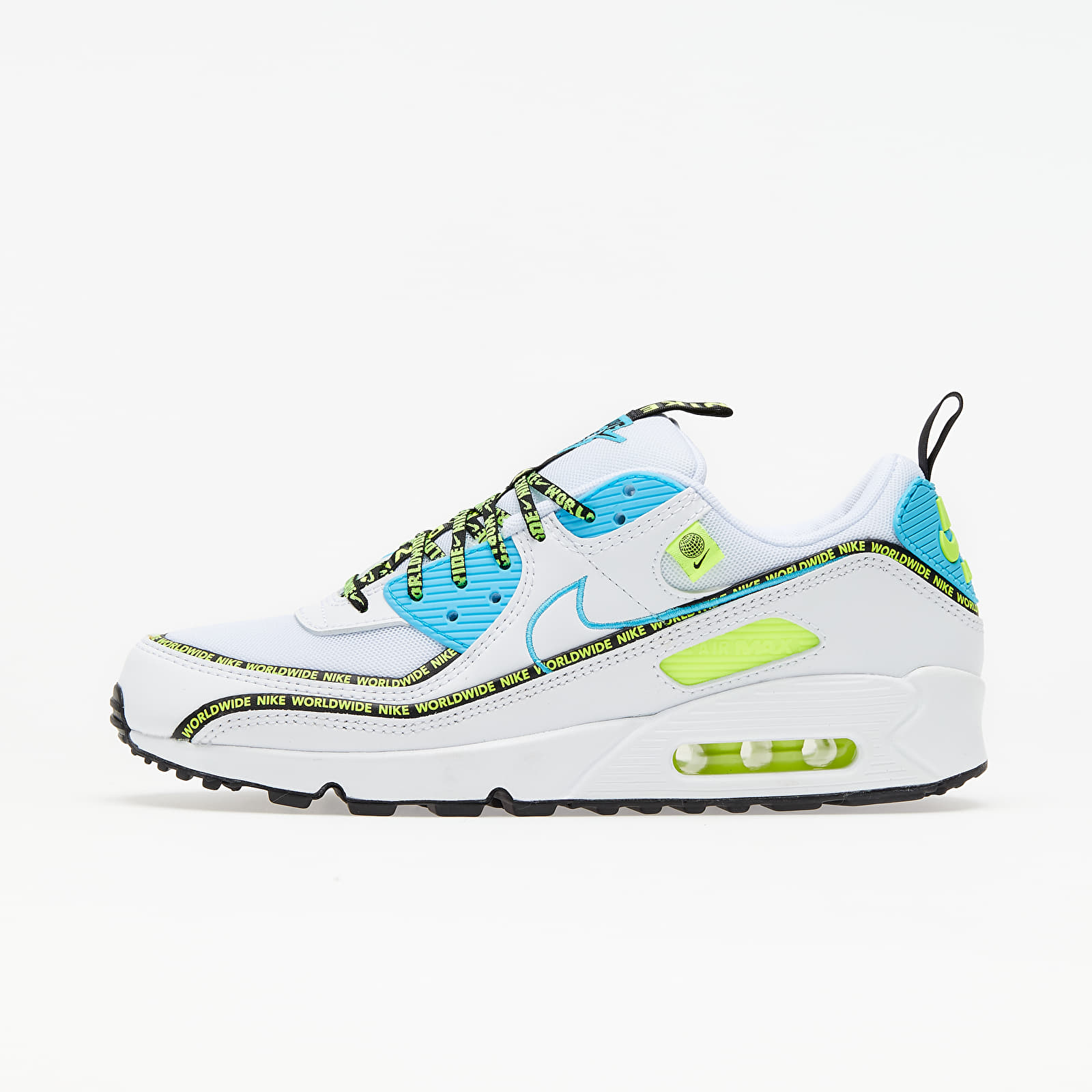 Nike Air Max 90 SE White/ Blue Fury-Black-Volt EUR 41