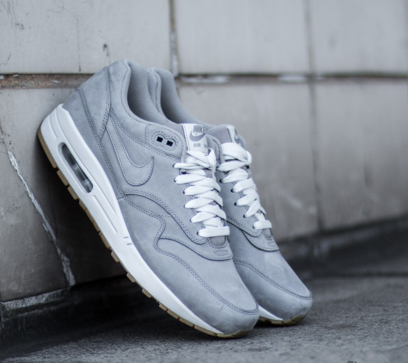 low priced e2270 467ab Nike Air Max 1 LTR Premium Medium Grey  Medium Grey- Natural Grey