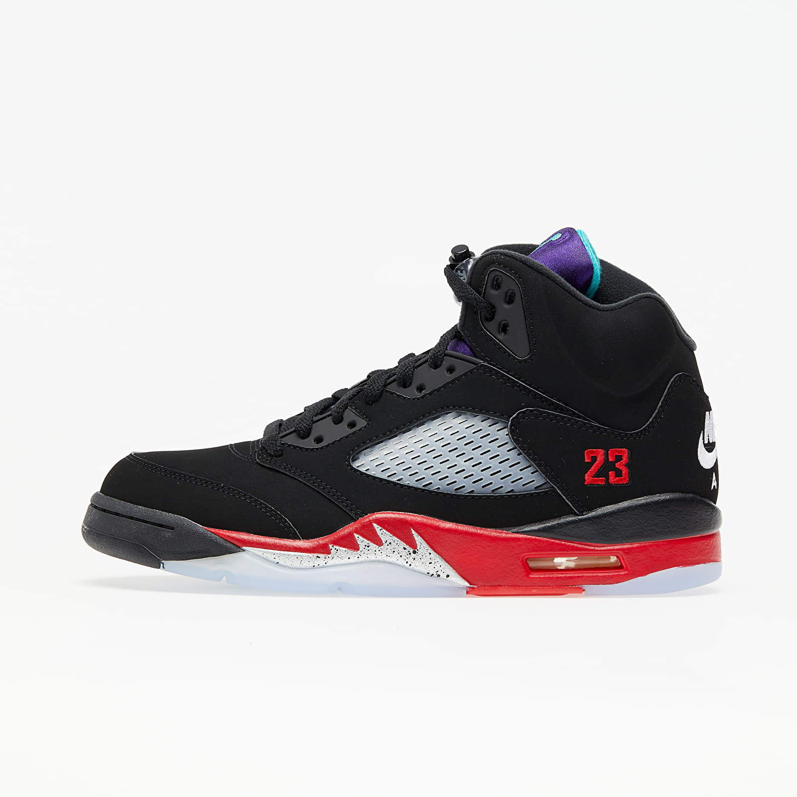 Air Jordan 5 Retro Black/ New Emerald-Fire Red-Grape Ice EUR 49.5