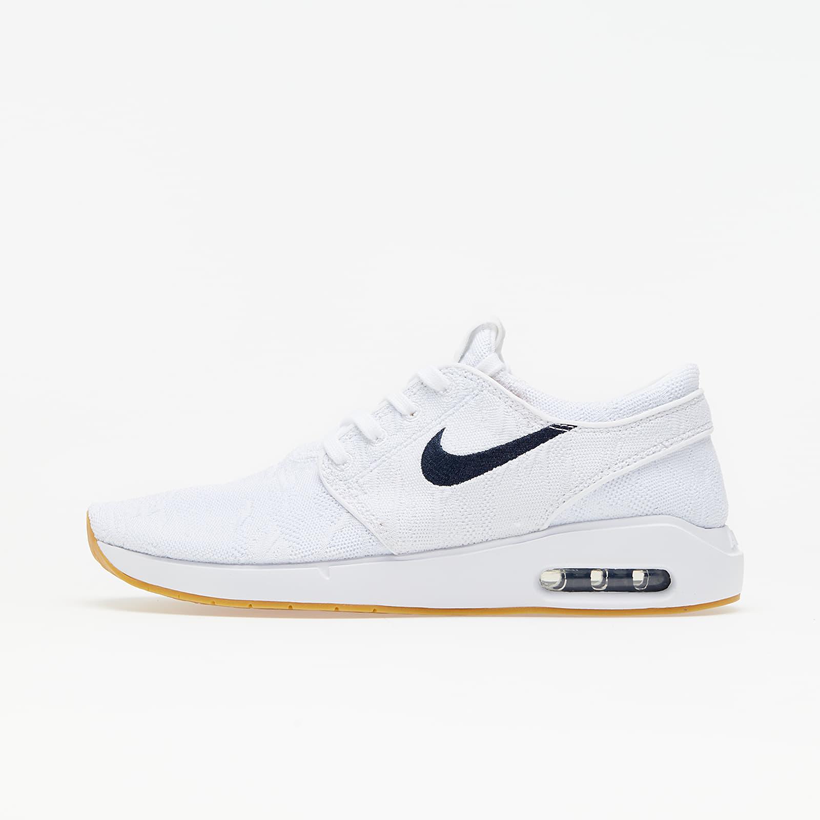 Brillante Melódico Ministerio  Men's shoes Nike SB Air Max Stefan Janoski 2 White/ Obsidian-Celestial Gold  | Footshop