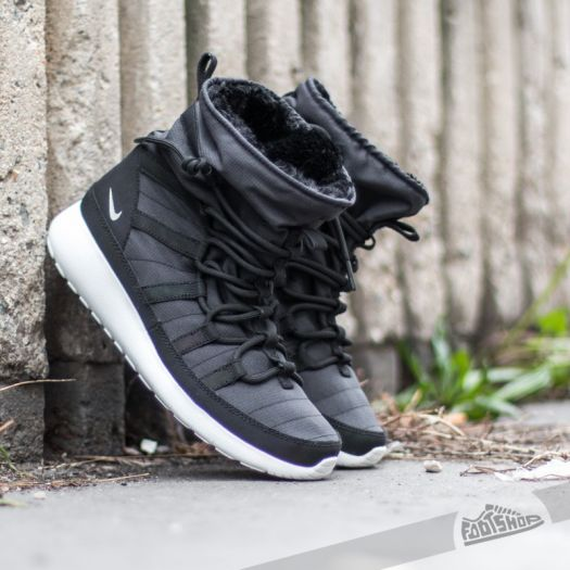 sports shoes 11745 93ce4 Nike Roshe One Hi Flash (GS) Black/ Metallic Silver-Summit ...