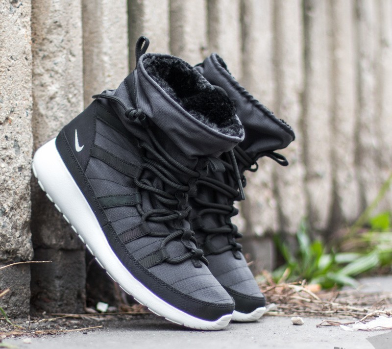 8b381f159285 Nike Roshe One Hi Flash (GS) Black  Metallic Silver-Summit White ...