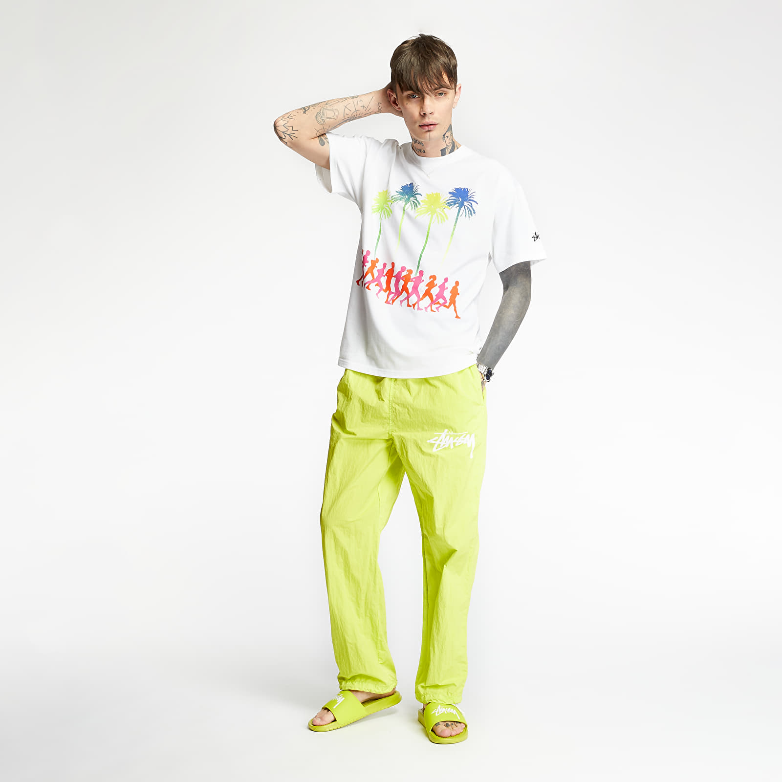 Pants and jeans Nike x Stüssy Beach Pants Bright Cactus