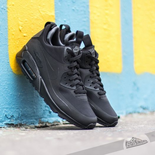 Top Deals Nike Air Max 90 High Winter Sneakerboot All Black