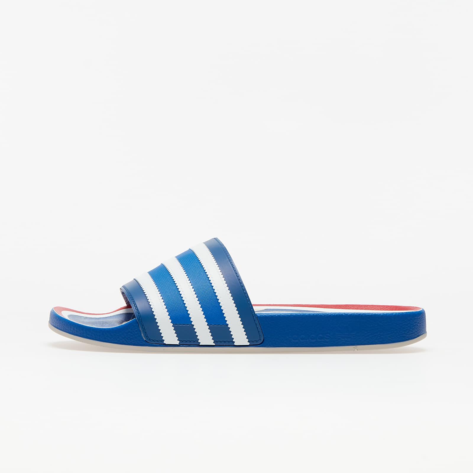 Pánske tenisky a topánky adidas Adilette Premium Blue/ Ftw White/ Hi-Res Red