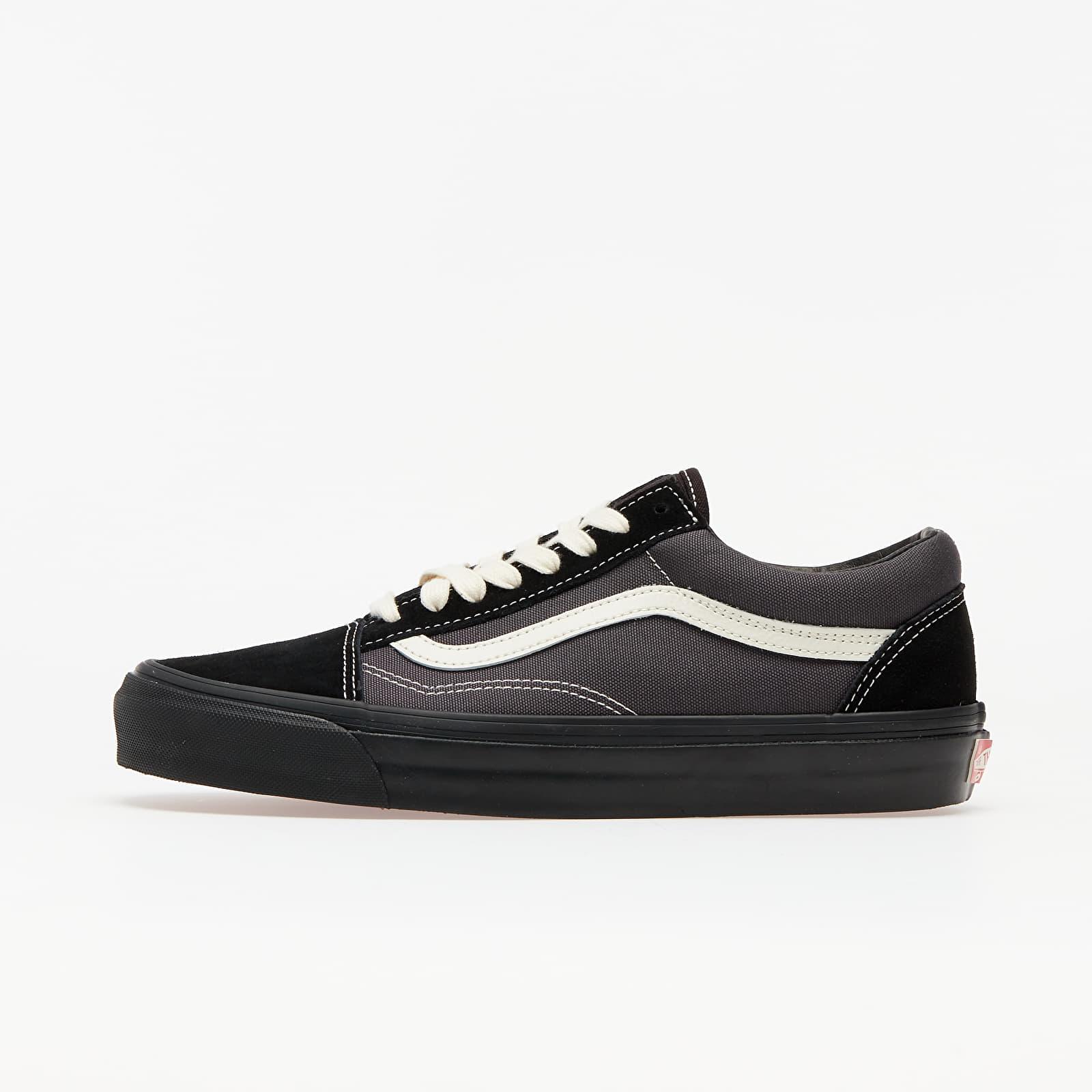 Мужская обувь Vans OG Old Skool LX (Sude/ Canvas) Black/ Grey