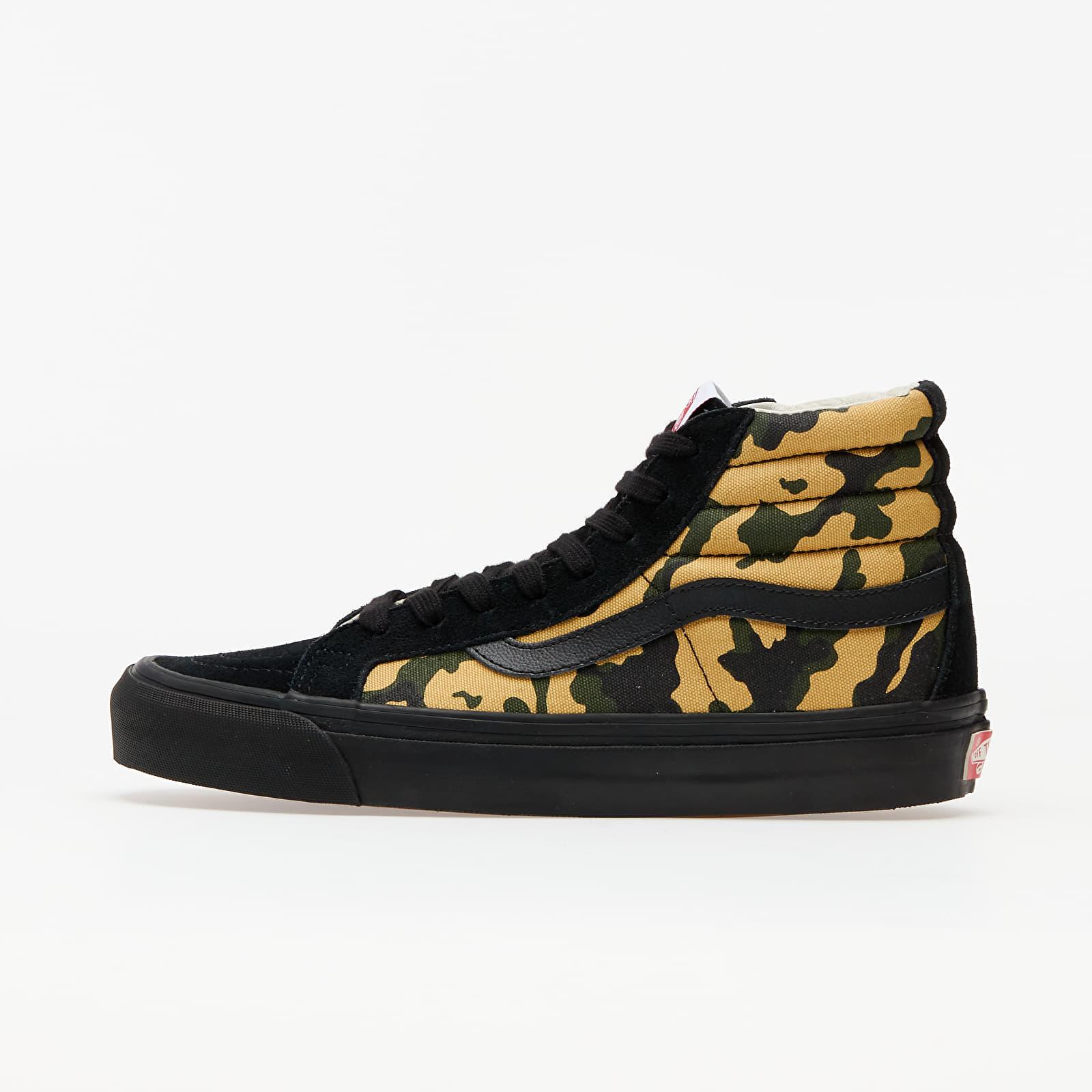 Men's shoes Vans OG Sk8-Hi LX (Suede/ Canvas) Camo/ Black