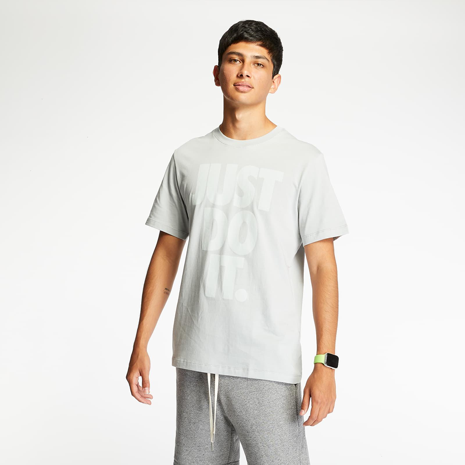 Nike Sportswear Just Do It Wash Tee Lt Smoke Grey/ White, Gray