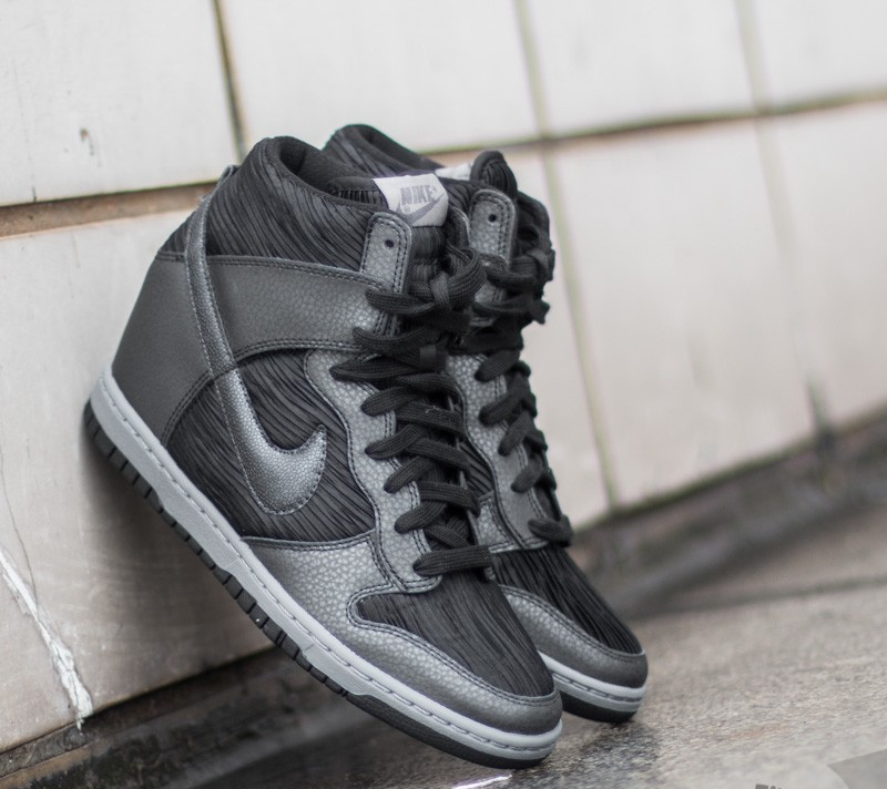 detailed look 1ff34 93ae8 ... cheapest nike wmns dunk sky hi black metallic hematite black cool grey  473aa 986e8