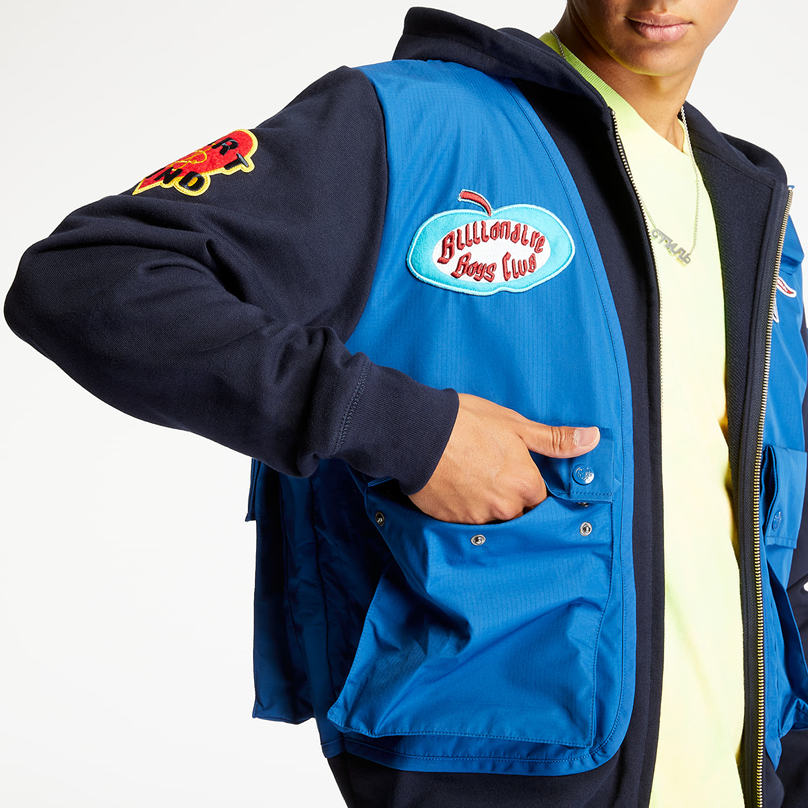 Billionaire Boys Club Tactical Zip Hoodie Navy, Blue