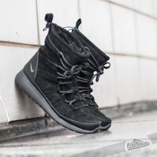 Nike Wmns Roshe One Hi Suede Black Anthracite | Footshop