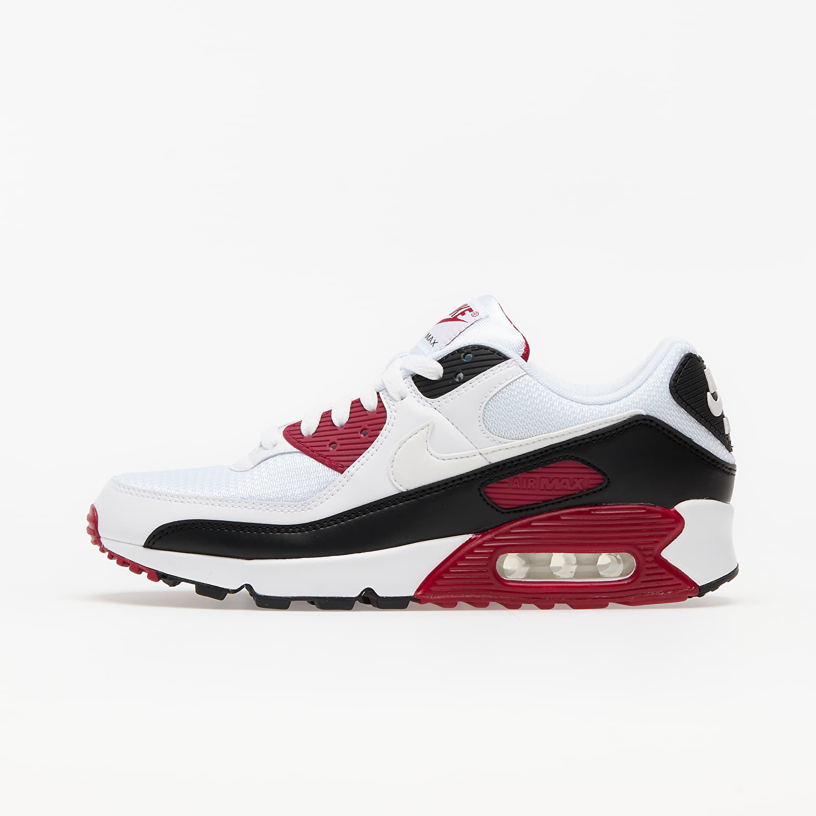 Nike Air Max 90 White/ White-New Maroon-Black EUR 42