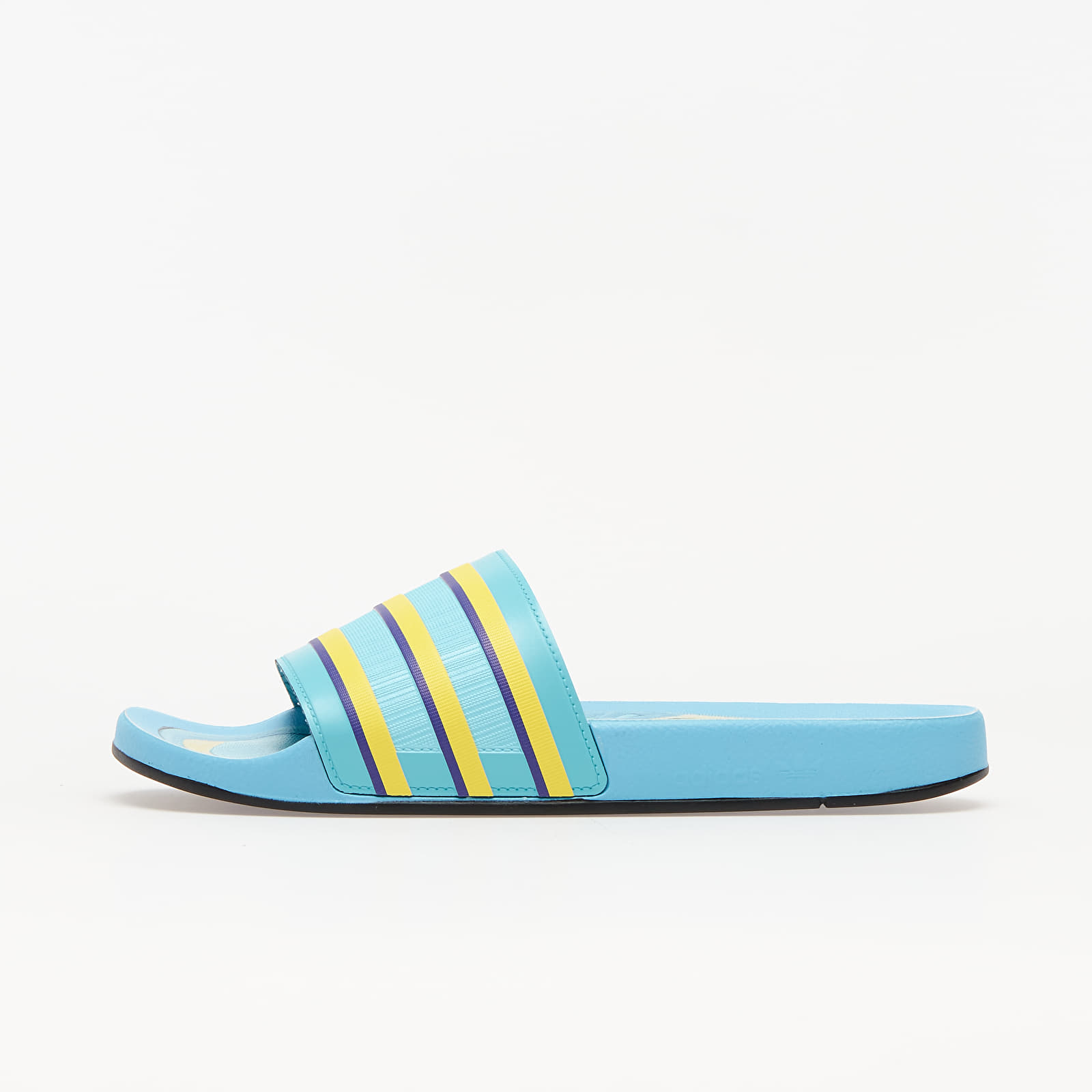 adidas Adilette Premium Light Aqua/ Bright Yellow/ Purple EUR 39