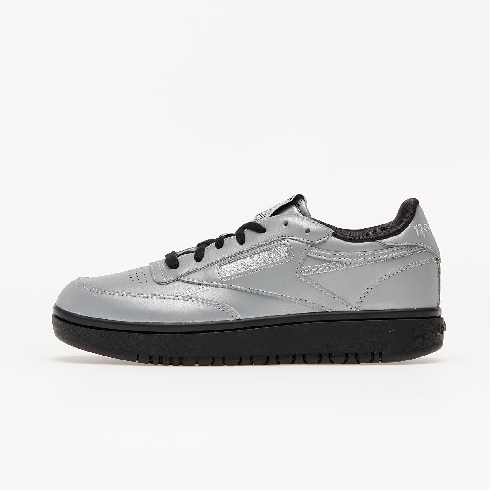 Women's shoes Reebok Club C Double Matte Silver/ Matte Silver/ Black