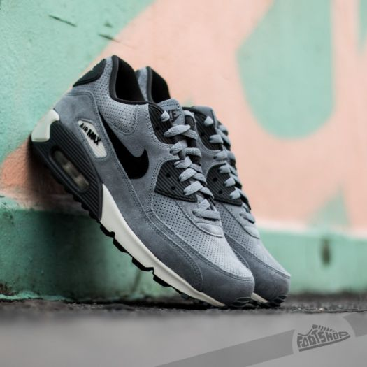 Nike Air Max 90 Leather Premium Blue Graphite Black Anthracite