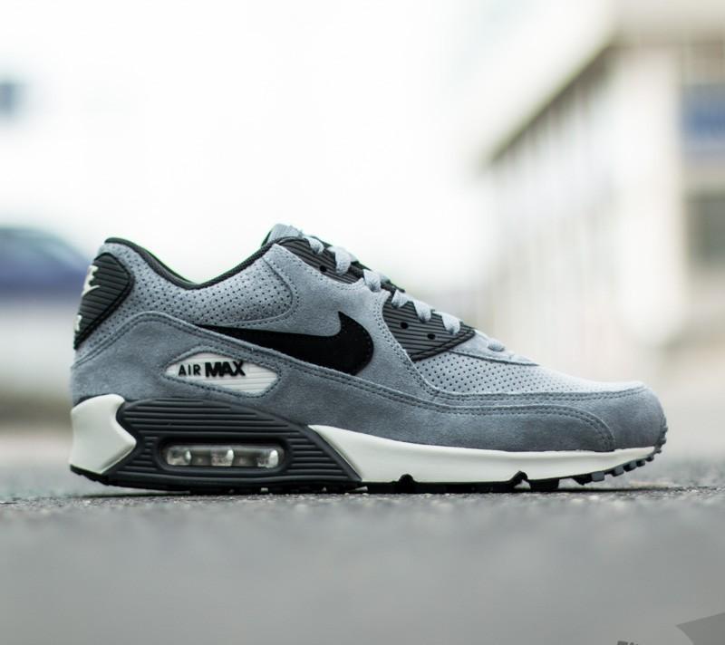 Nike Air Max 90 Leather Premium Blue Graphite Black Anthracite   Footshop