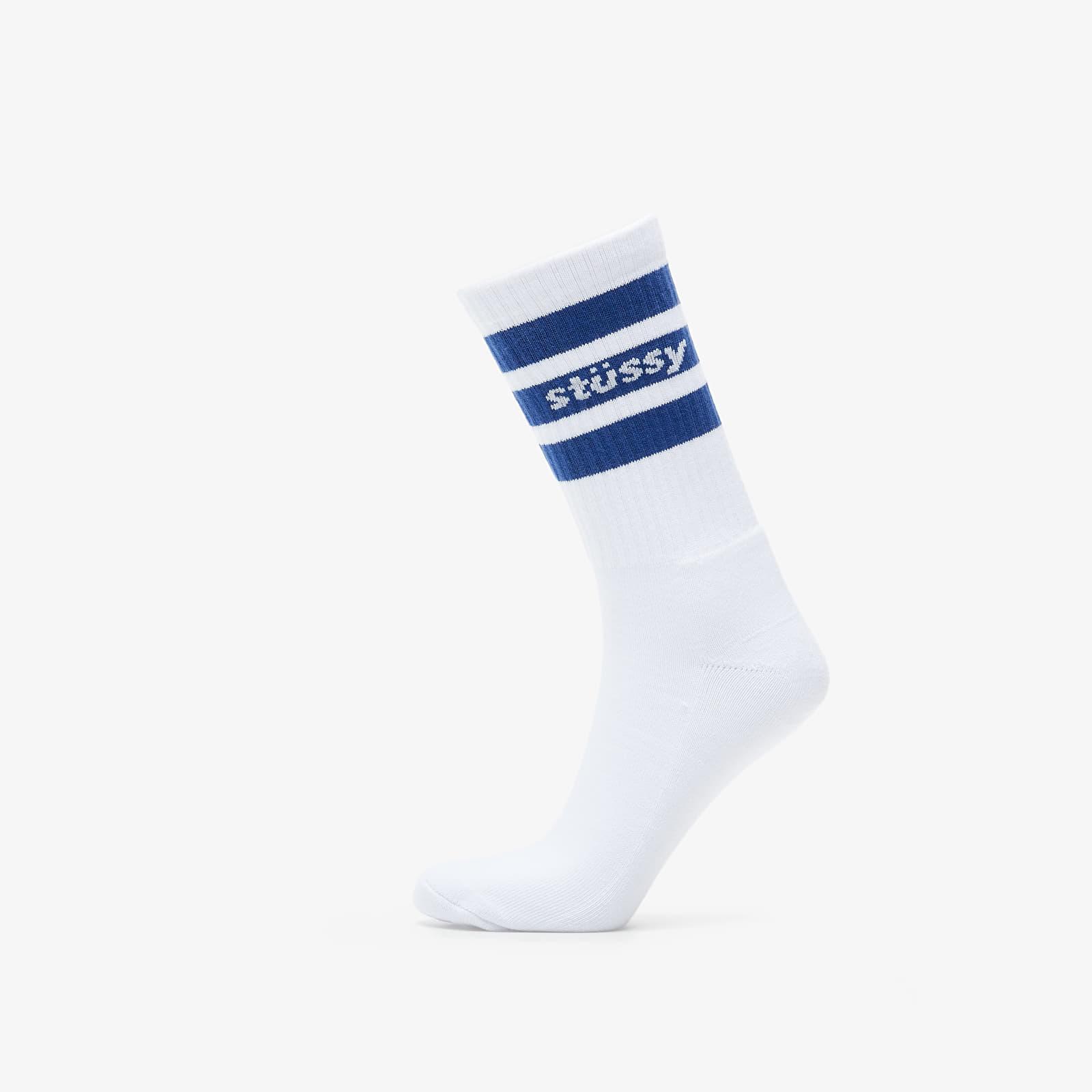 обычные носки Stüssy Sport Crew Socks White/ Navy