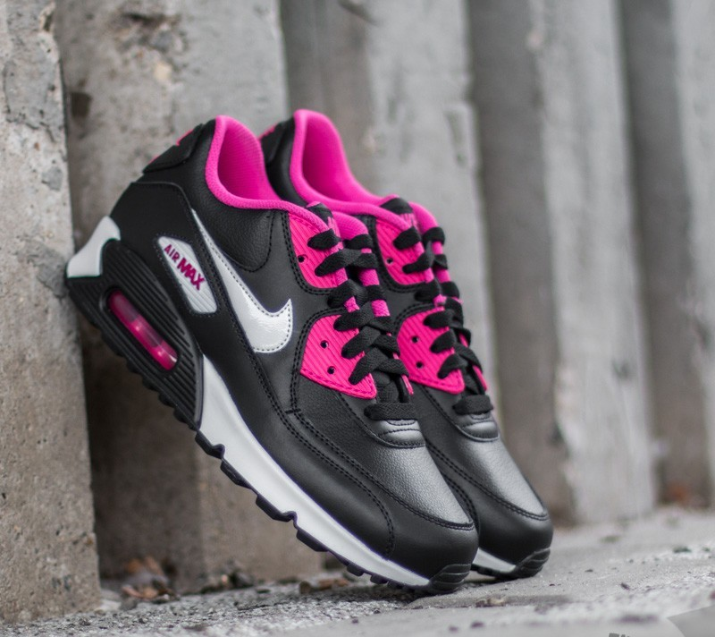 Nike Air Max 90 LTR (GS) Black  White-Vivid Pink  0246e9464