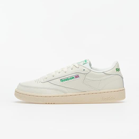 Women S Shoes Reebok Club C 85 Chalk Green White Red