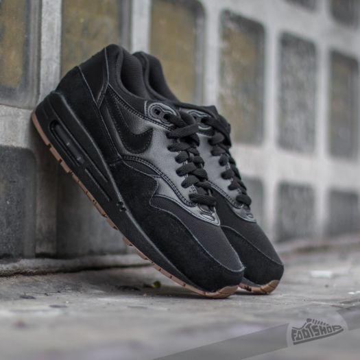 nike air max 1 black black gum medium brown