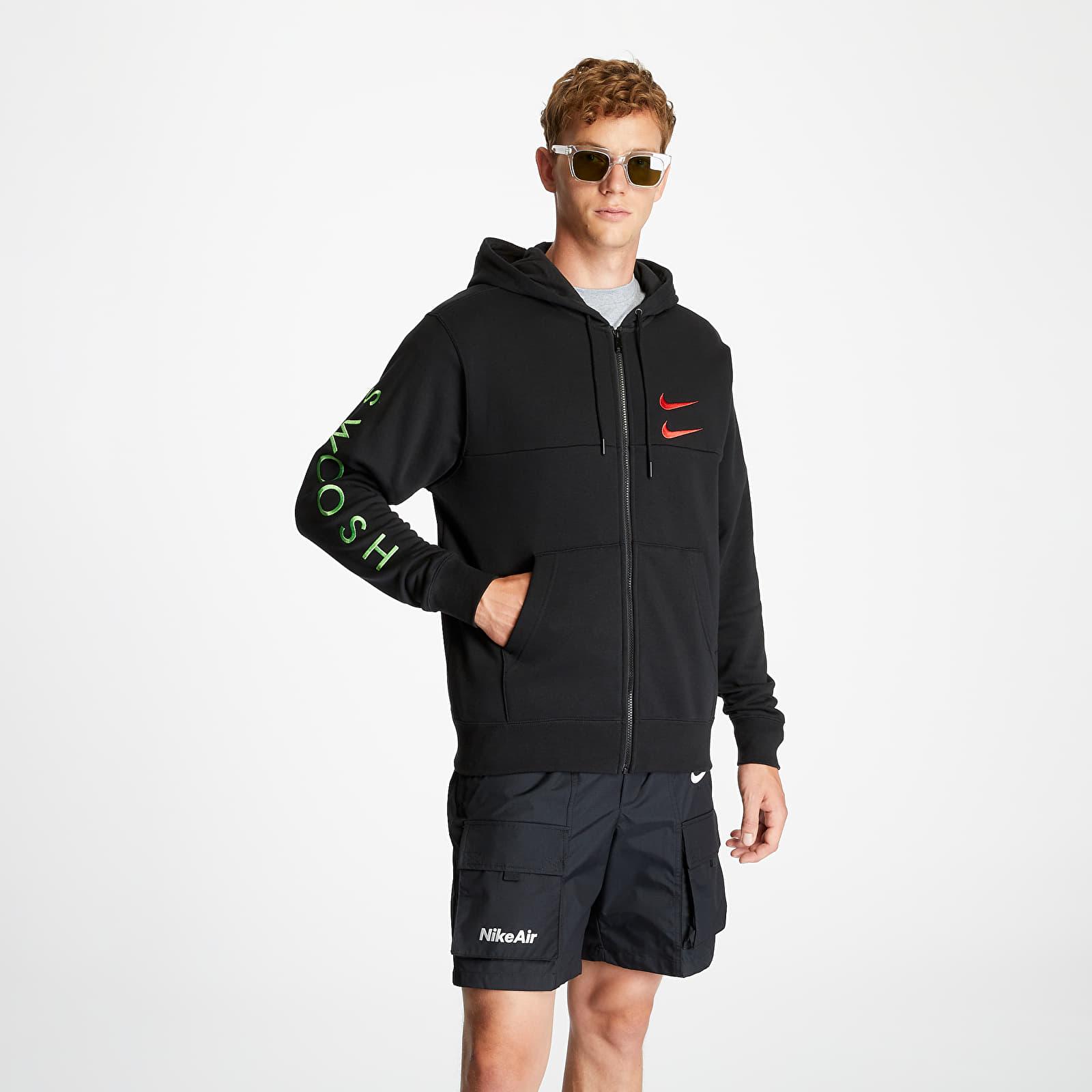 Nike Sportswear Full Zip Hoodie Black/ Ember Glow