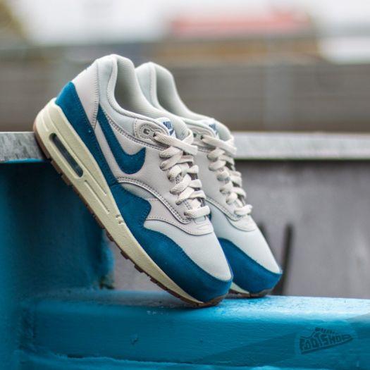 Nike Wmns Air Max 1 Essential Light Bone Brigade Blue SL Gum Midium Brown | Footshop