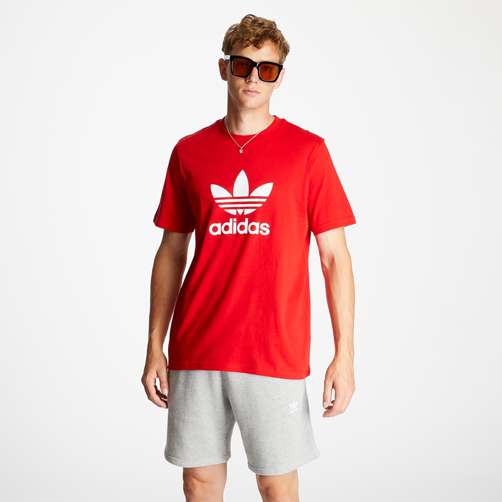 Magliette adidas Trefoil Tee Red