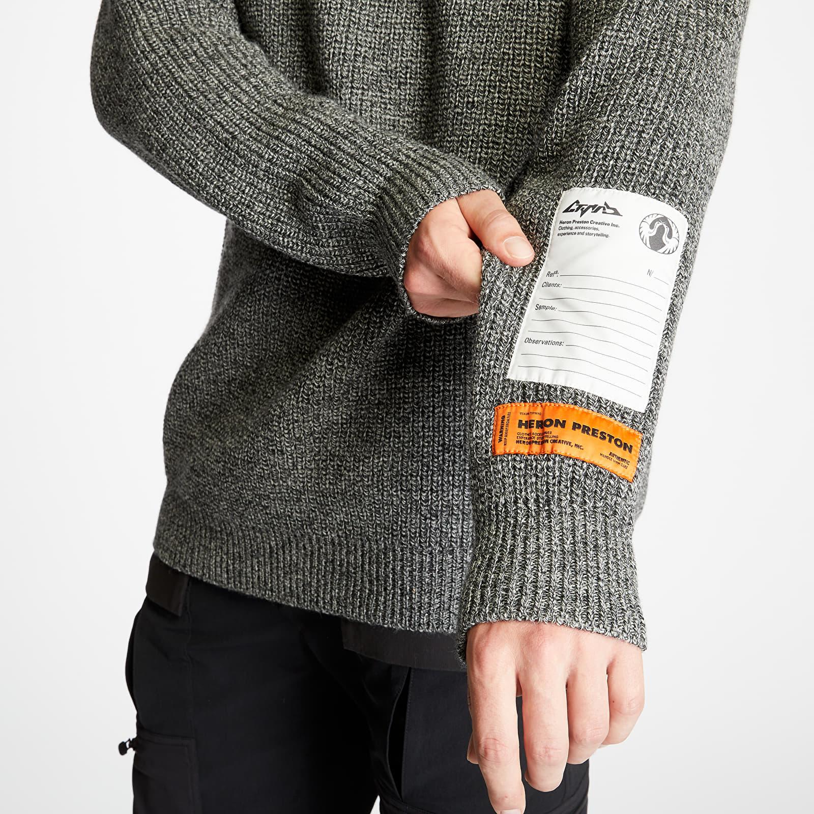 HERON PRESTON Chunky Turtleneck Grey Melange, Gray