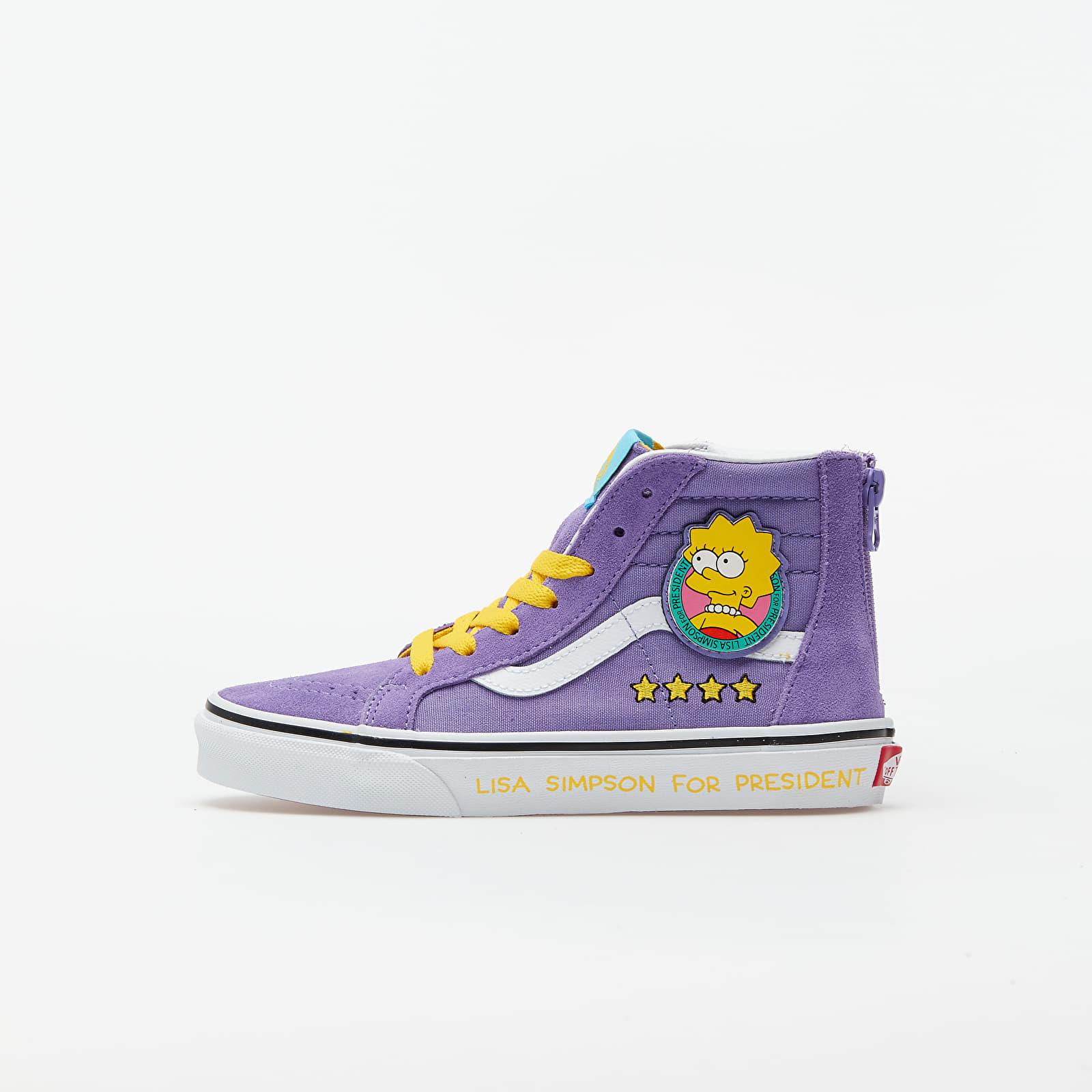 Kid´s shoes Vans Sk8-Hi Zip (The Simpsons) Lisa 4 Prez