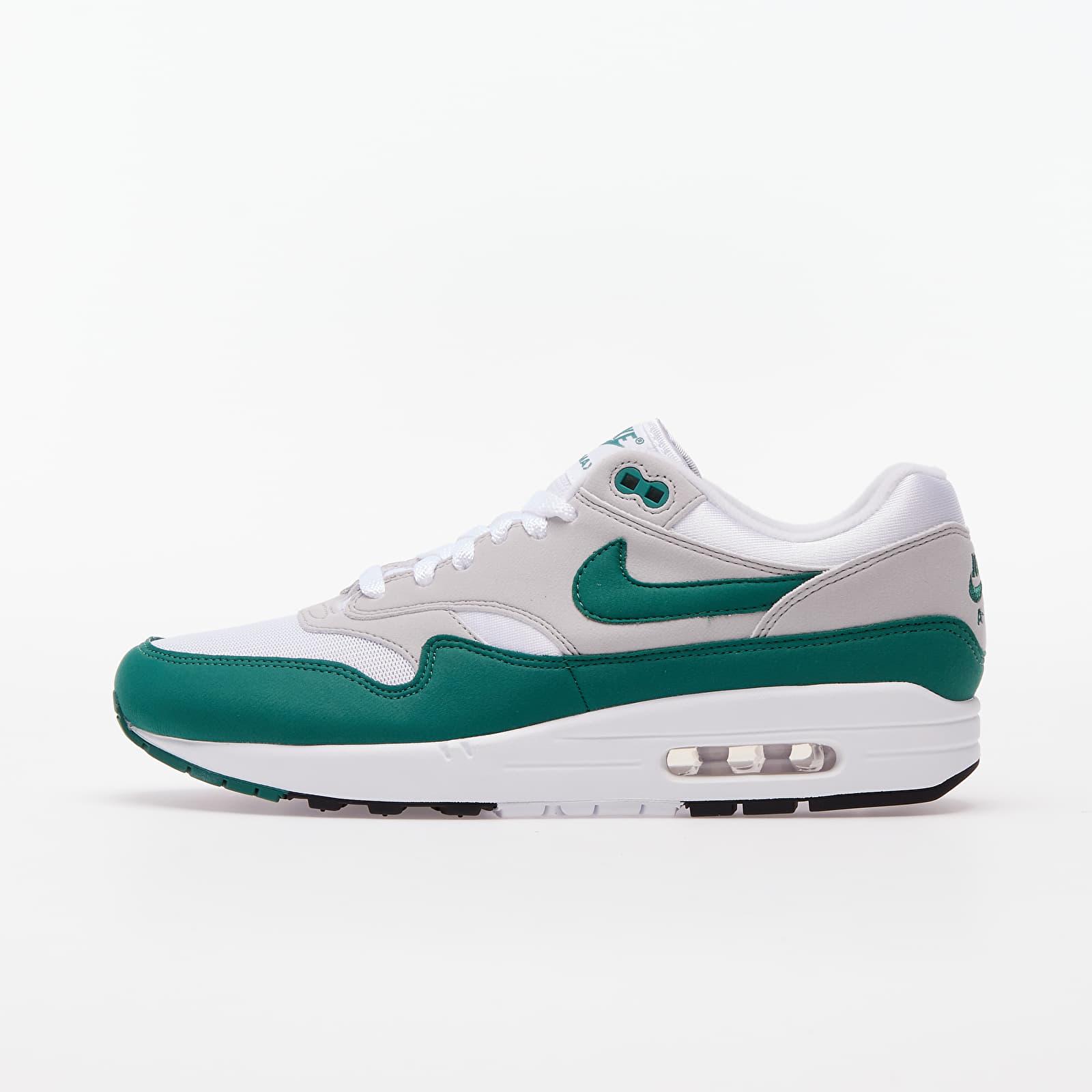 Men's shoes Nike Air Max 1 White/ Evergreen Aura-Neutral Grey-Black
