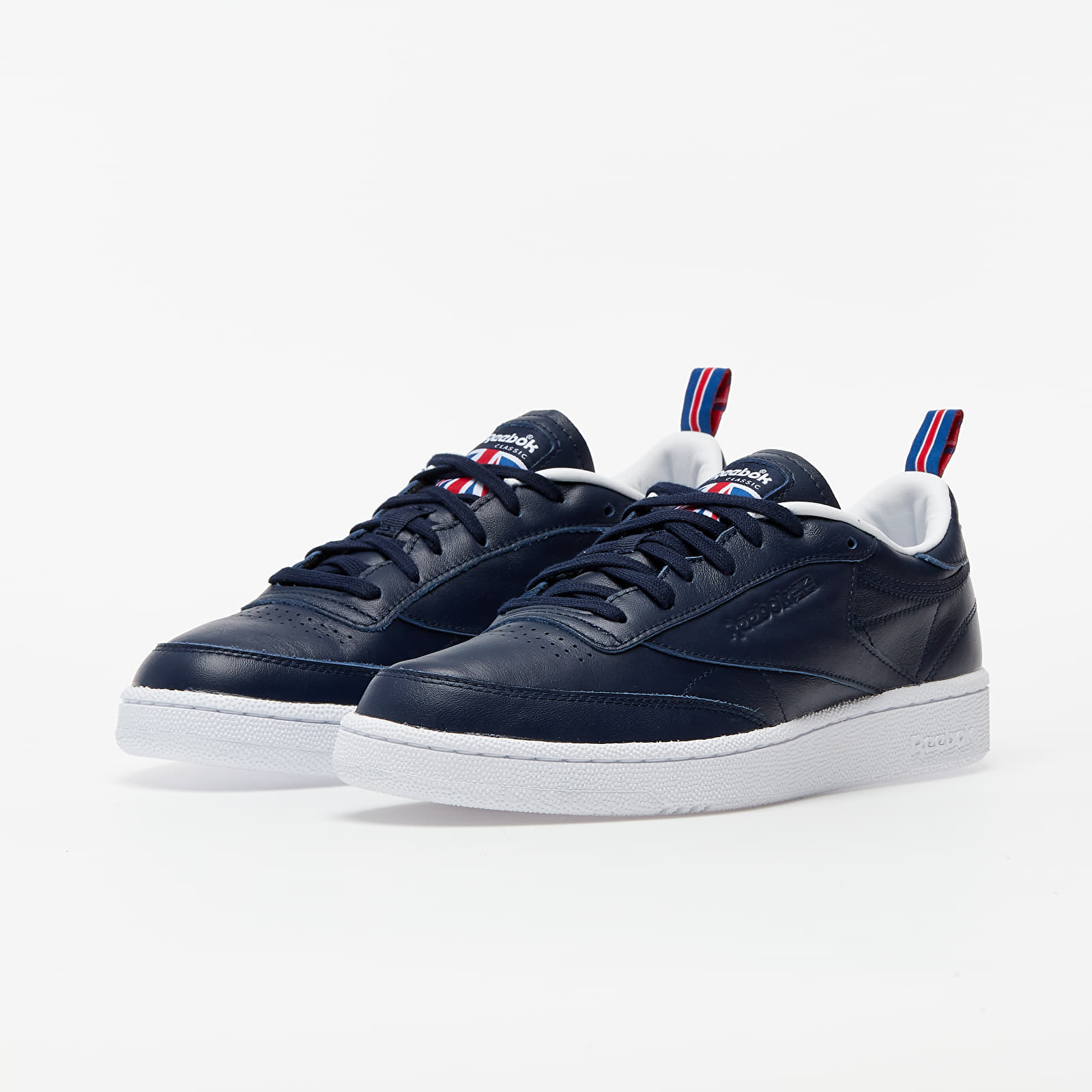 Reebok Club C 85 Vector Navy/ White/ Vector Red, Blue