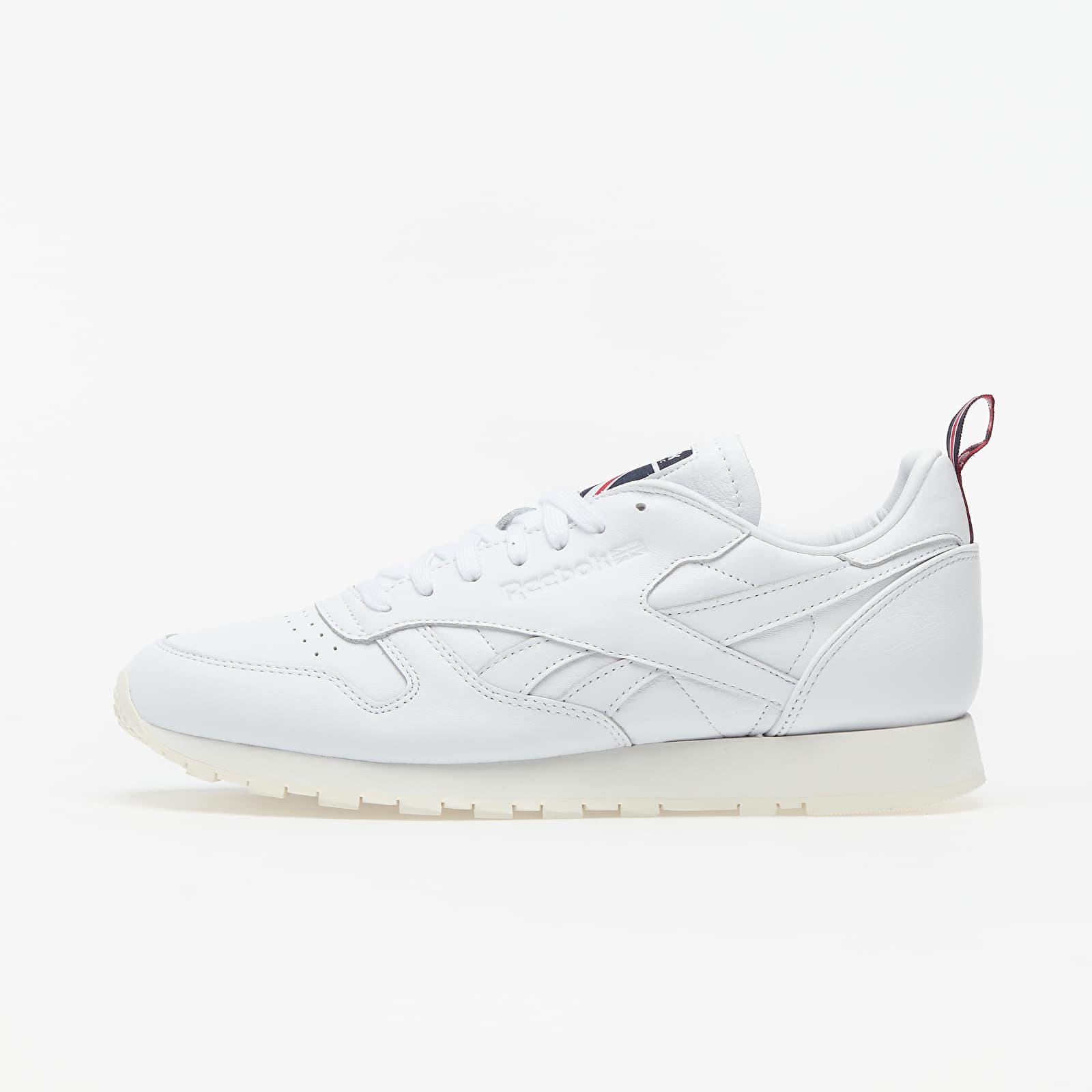 Reebok Classic Leather White/ Chalk/ Vector Navy EUR 44
