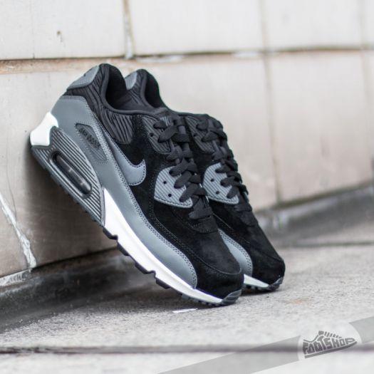 Nike Wmns Air Max 90 Leather Black Metallic Hematite Dark Grey SL | Footshop