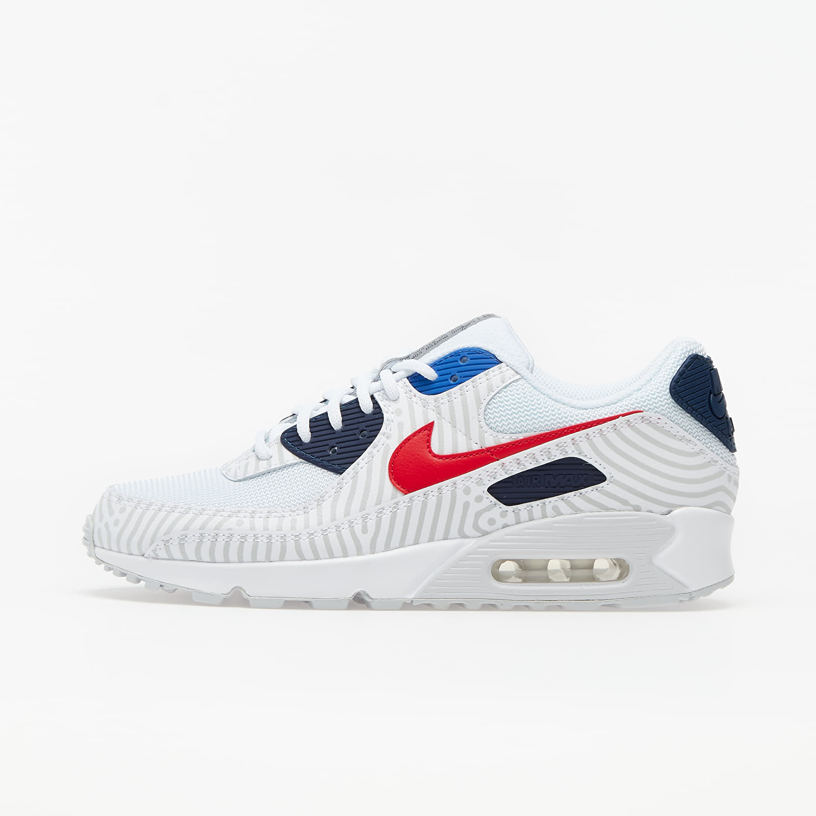 Chaussures et baskets homme Nike Air Max 90 White/ University Red-Midnight Navy