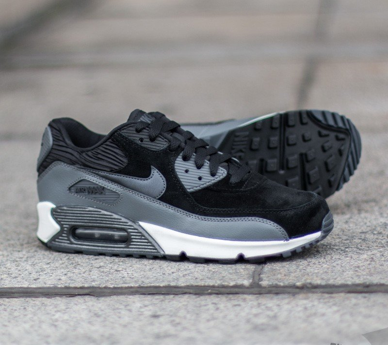 Nike Air Max 90 Lthr Black Metallic Hematite Dark Grey