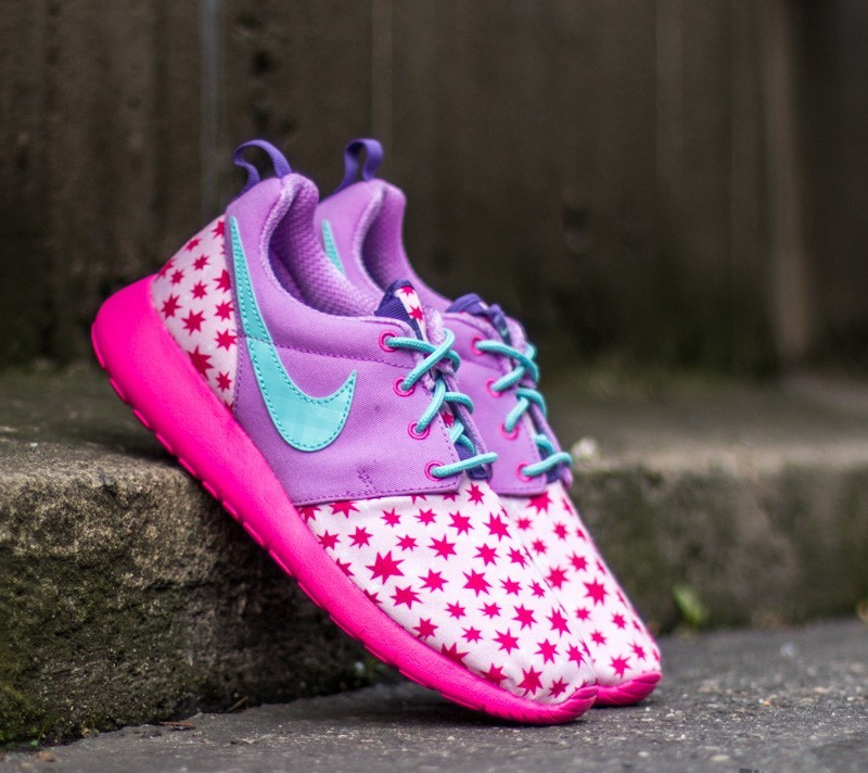 the latest 122b6 abe55 ... where can i buy nike roshe one print gs. prms pink td purple 7c97d e5a10