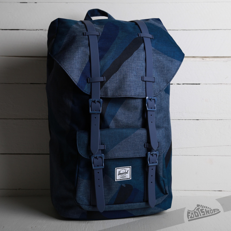 0b982e8cea09 Herschel Supply Little America Backpack Navy Portal Navy Rubber ...