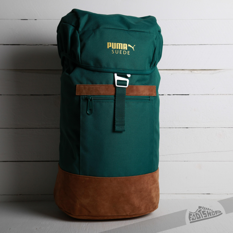 57602e37e2 Puma Suede Backpack Posy Green