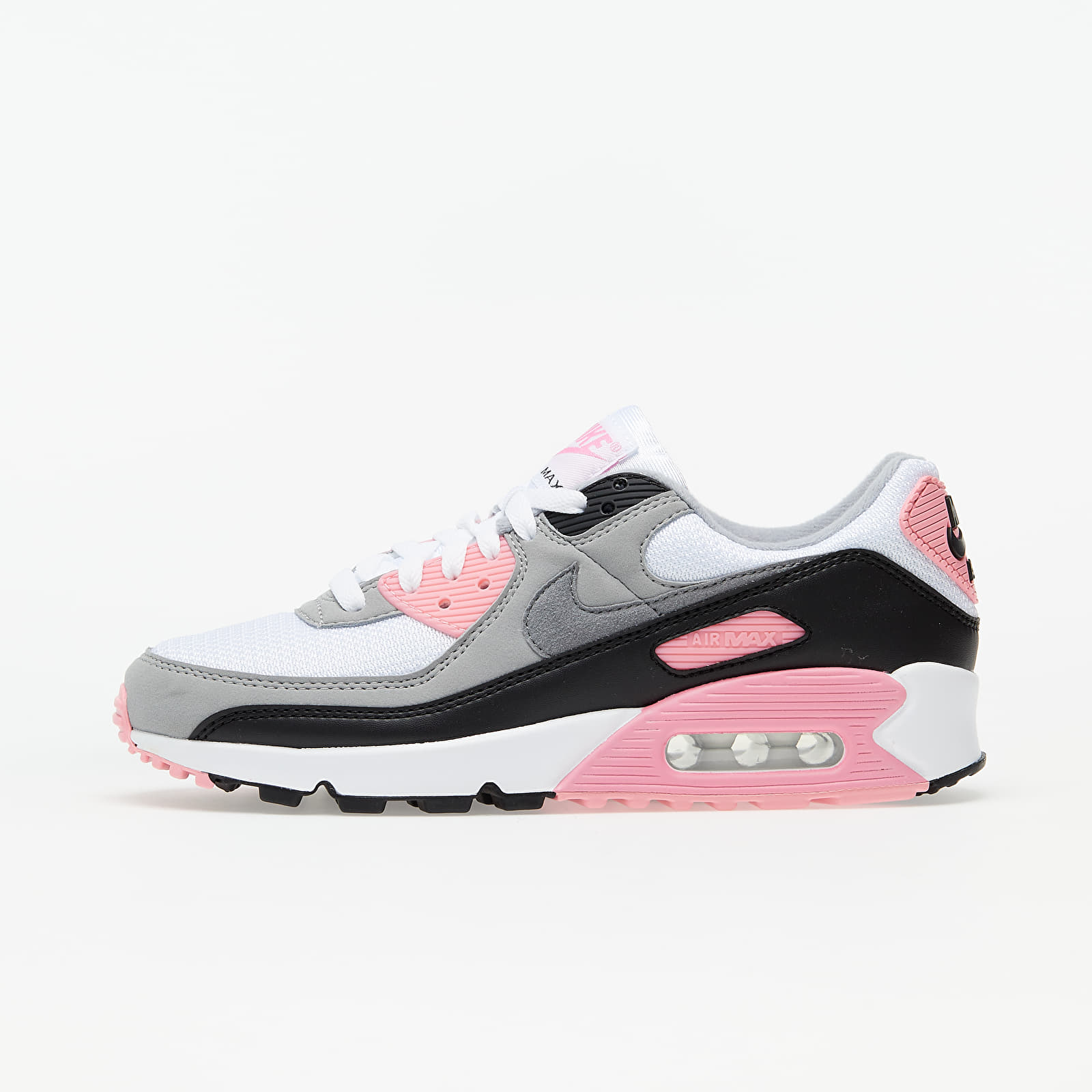 Women's shoes Nike W Air Max 90 White/ Particle Grey-Rose-Black