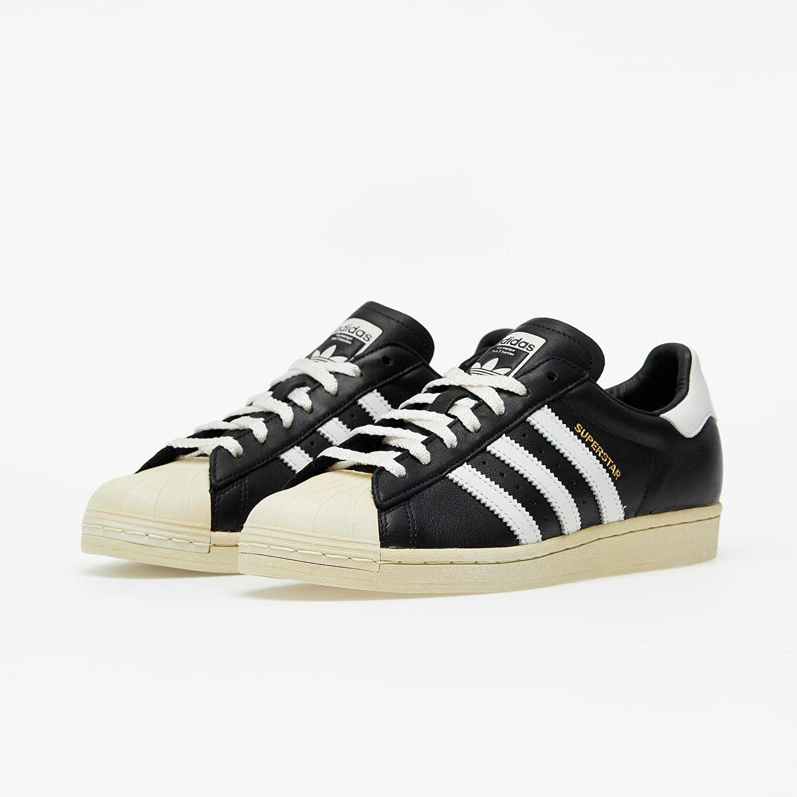 adidas Superstar Core Black/ Crystal White/ Blue | Footshop
