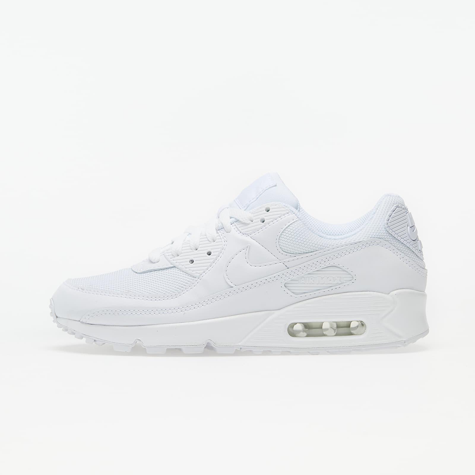 Men's shoes Nike Air Max 90 White/ White-White-Wolf Grey