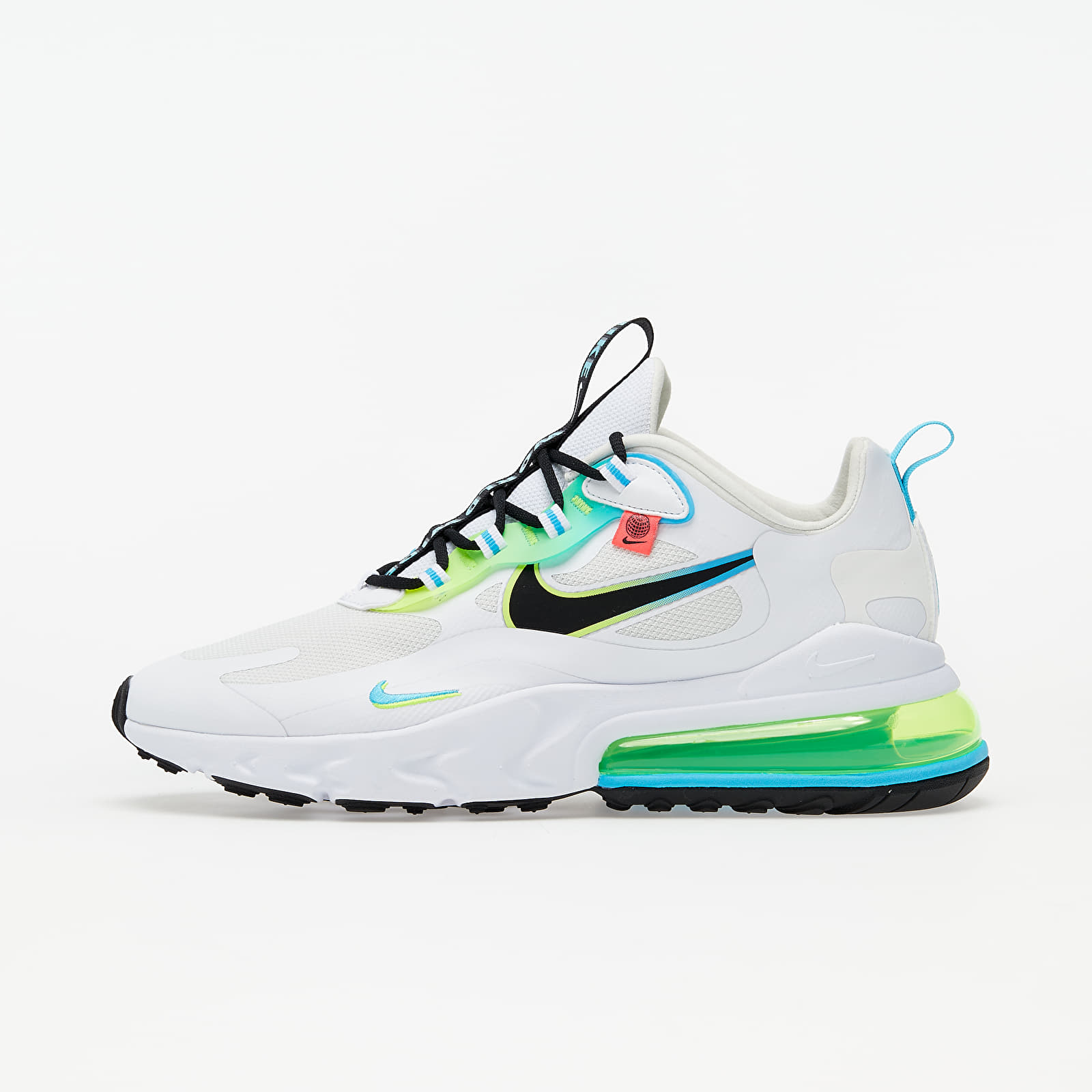 Men's shoes Nike Air Max 270 React WW White/ Black-Blue Fury-Volt